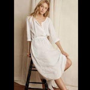 Cream Peasant Cottagecore Midi Dress by Gap